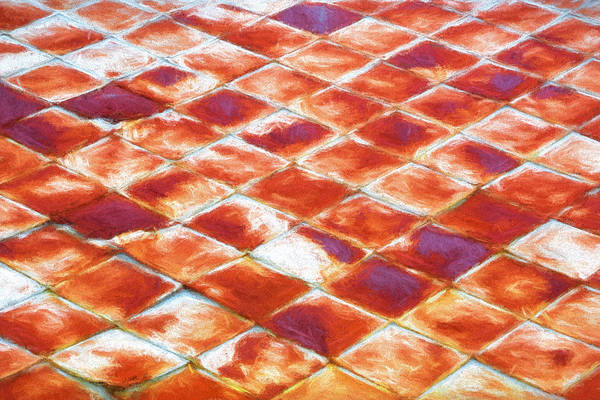 Ormond Photograph - Old Rusty Metal Roof Tiles Painted  by Rich Franco