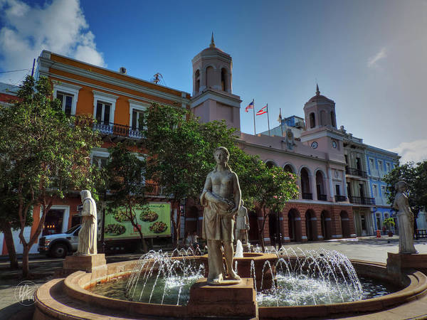 Photograph - Old San Juan - Plaza De Armas  by Lance Vaughn