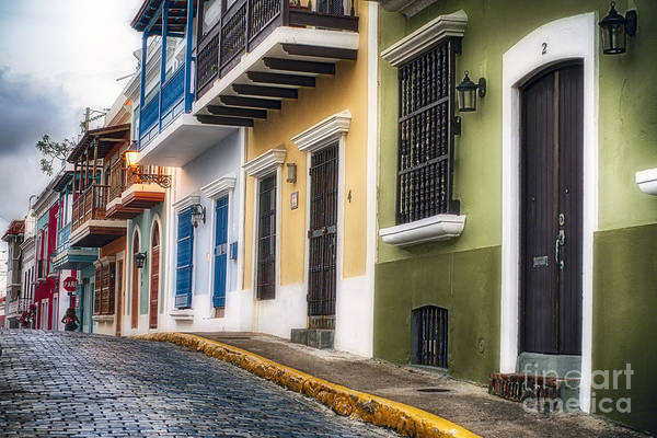 Call Building Photograph - Old San Juan Street Charm I by George Oze