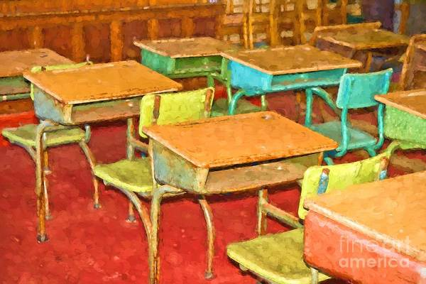 Photograph - Old School Room by Les Palenik