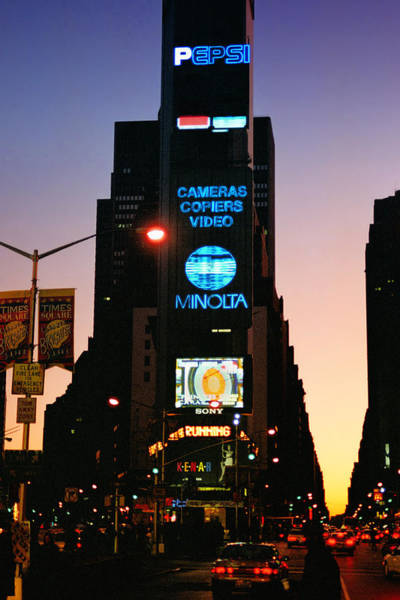 Photograph - Old School Times Square by Joann Vitali