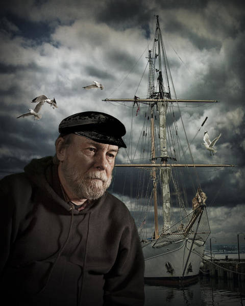 Angler Art Photograph - Old Sea Captain by Randall Nyhof