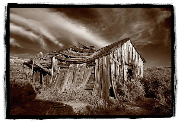 Ghosttown Photograph - Old Shack Bodie Ghost Town by Steve Gadomski