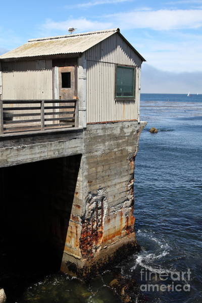 Monterey Bay Photograph - Old Shack Overlooking The Monterey Bay In Monterey Cannery Row California 5d25062 by Wingsdomain Art and Photography