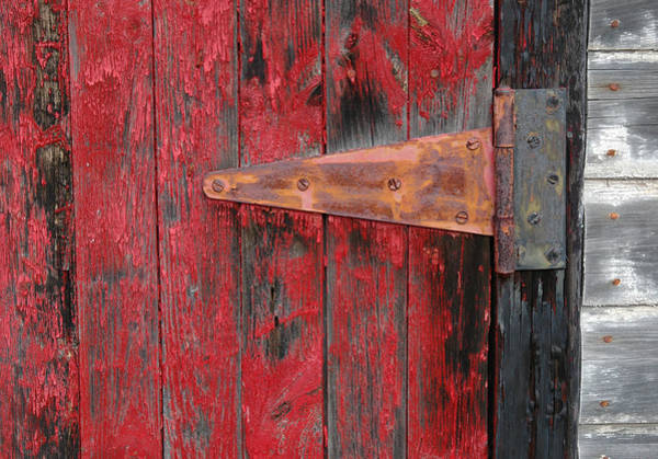 Photograph - Old Shed Door Hinge. by Rob Huntley