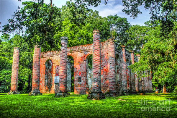 Photograph - Old Sheldon Church Ruins by Dale Powell