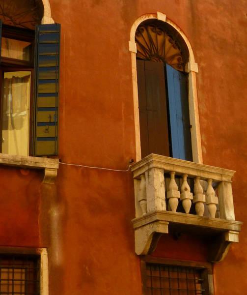 Burnt Sienna Wall Art - Photograph - Venetian Old Sienna Walls  by Connie Handscomb