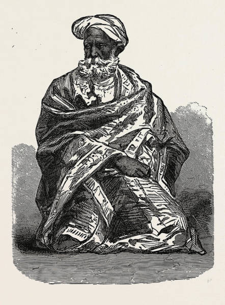 Old Style Drawing - Old Sikh, India by English School