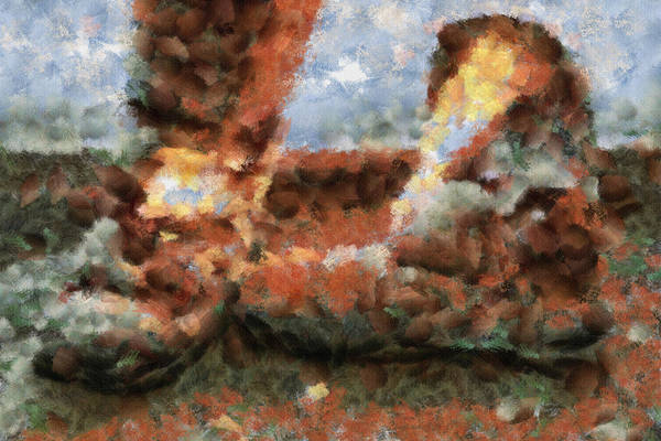 Tranquility Painting - Old Snow Boots by Inspirowl Design