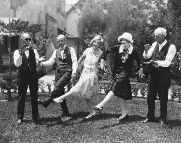 Dance Photograph - Old Soldiers Teach Charleston by Underwood Archives