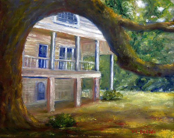 Painting - Old Southern Louisiana Mansion Plantation by Lenora  De Lude