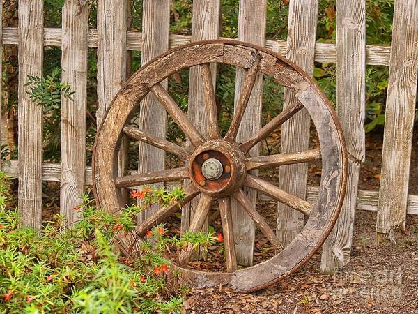 Wagon Wheel Photograph - Old Spare Wheel by Chris Thaxter