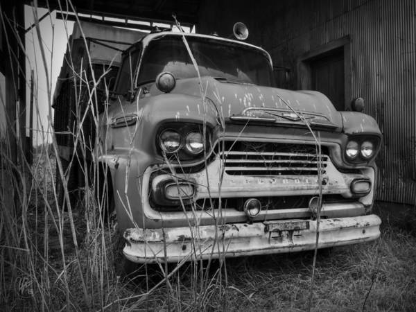 Photograph - Old Spartan 001 Bw by Lance Vaughn