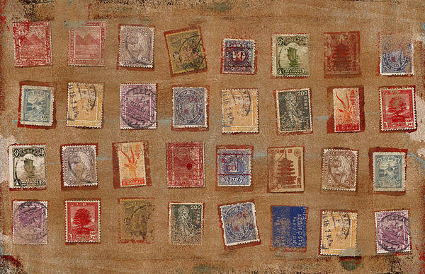 Correspondence Photograph - Old Stamp Collection by Carol Leigh