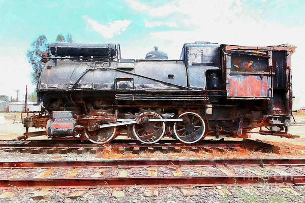 Photograph - Old Steam Locomotive 5d28362wcstyle by Wingsdomain Art and Photography