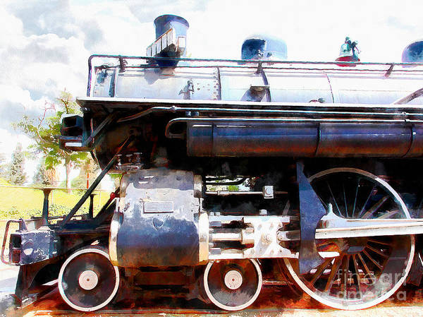 Photograph - Old Steam Locomotive 5d29112wcstyle by Wingsdomain Art and Photography