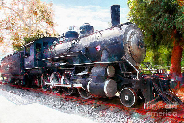 Photograph - Old Steam Locomotive 5d29122wcstyle by Wingsdomain Art and Photography