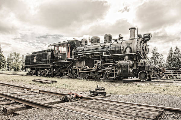 Photograph - Old Steam Locomotive No. 97 - Made In America by Gary Heller