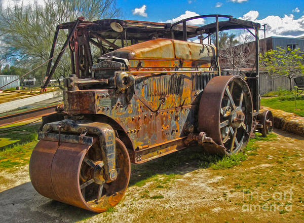 Painting - Old Steam Roller  by Gregory Dyer