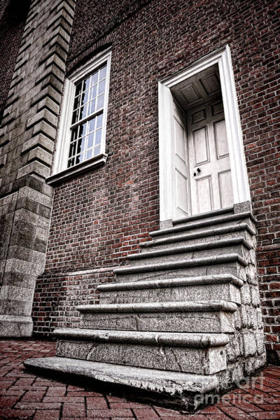 Entry Photograph - Old Steps And Door by Olivier Le Queinec