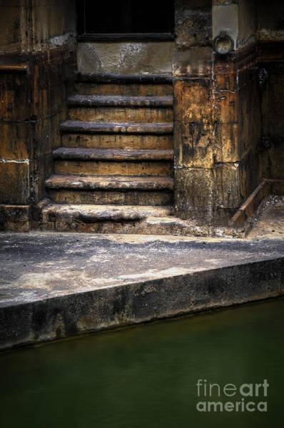 Bath Abbey Photograph - Old Steps by Svetlana Sewell