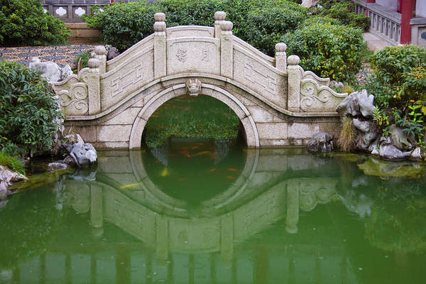 Carp Photograph - Old Stone Bridge In Shantang Street by Keren Su