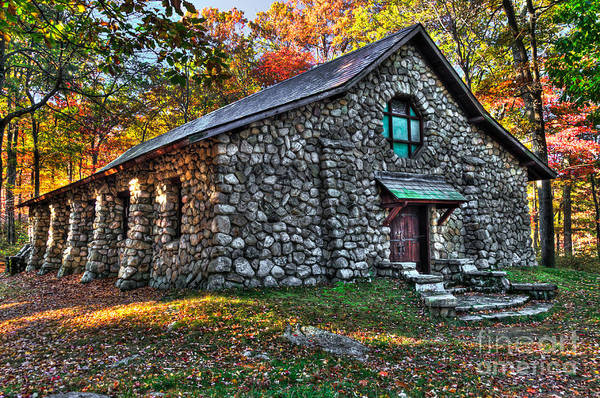 Photograph - Old Stone Lodge by Anthony Sacco