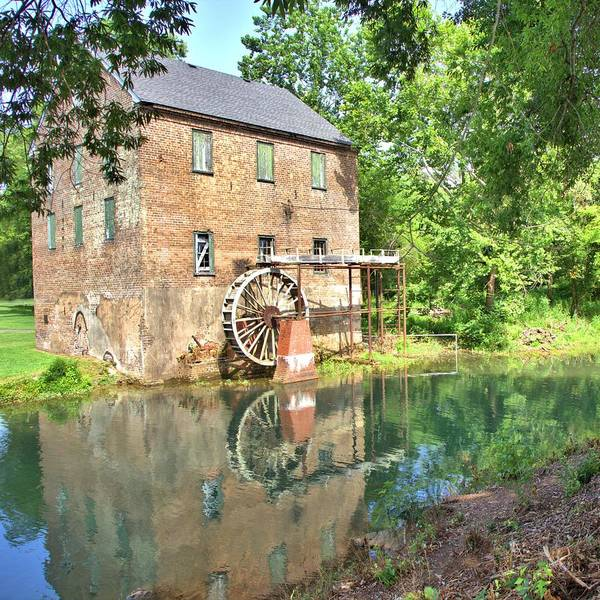 Photograph - Barnett's Old Stone Mill - Square by Gordon Elwell