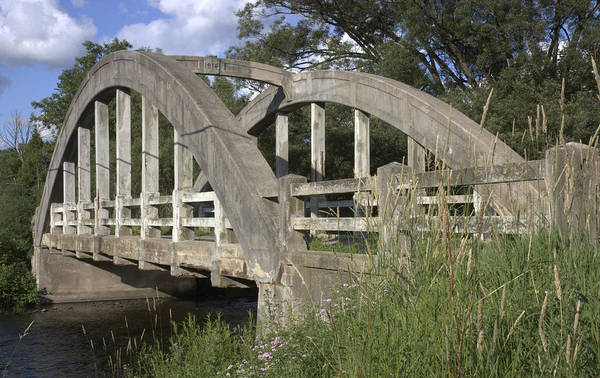 Photograph - Old Stone Rd Bridge-guelph-on by Nick Mares