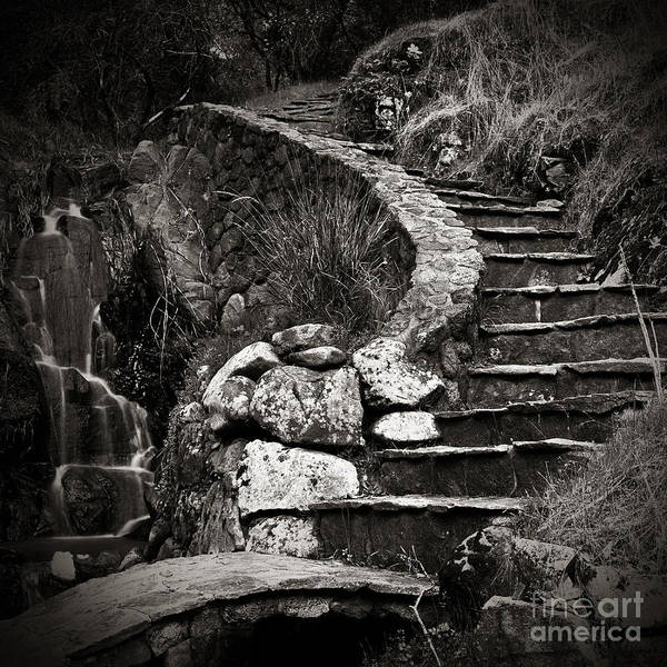 Photograph - Old Stone Stairway by Charmian Vistaunet