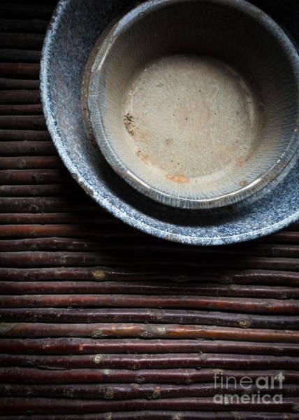 Stoneware Wall Art - Photograph - Old Stoneware Bowls by Edward Fielding