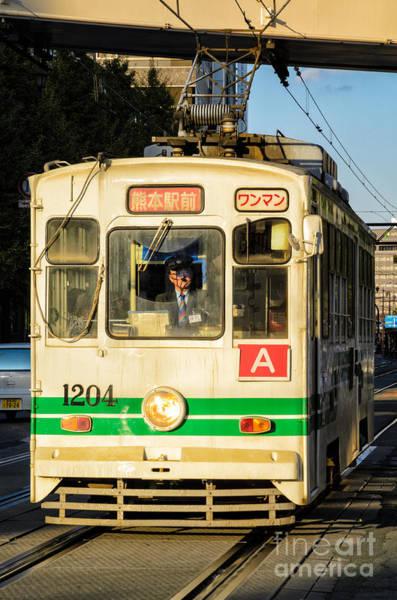 Photograph - Old Streetcar In Kumamoto - Kyushu - Japan by David Hill