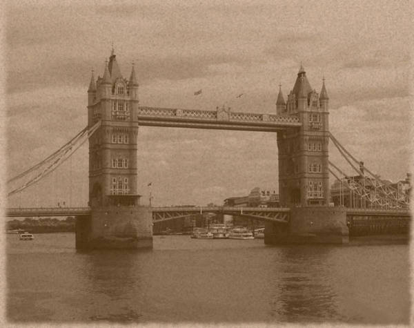 Photograph - Old Style Tower Bridge by Richard Reeve