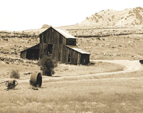 Coolie Photograph - Old Sutter Barn Sepia by Pamela Patch