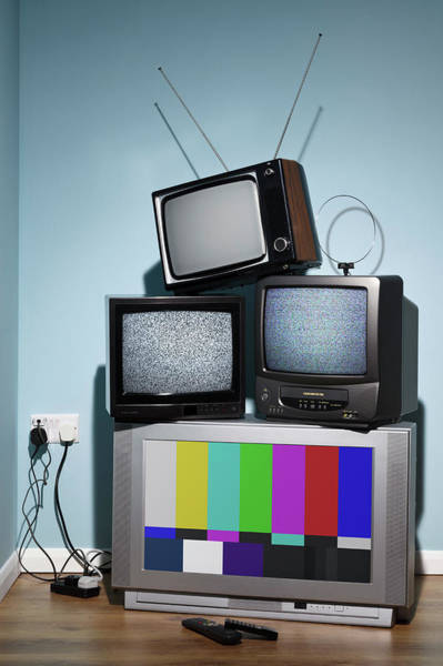 Multi Media Photograph - Old Televisions In The Corner Of A Room by Rtimages