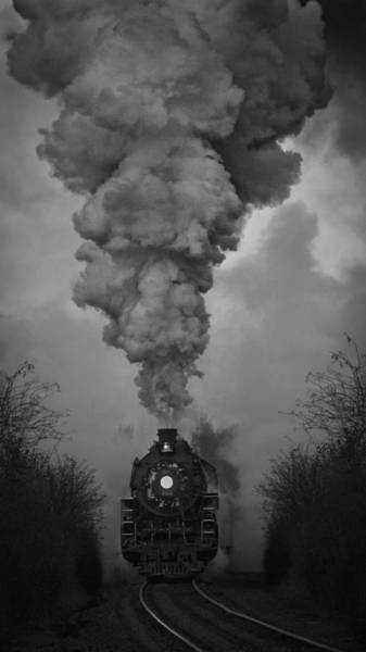 Photograph - Old Time Steam Locomotive by Wes and Dotty Weber