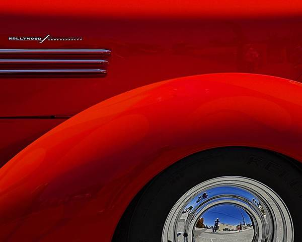 Photograph - Old Timer In Red by Wayne Wood