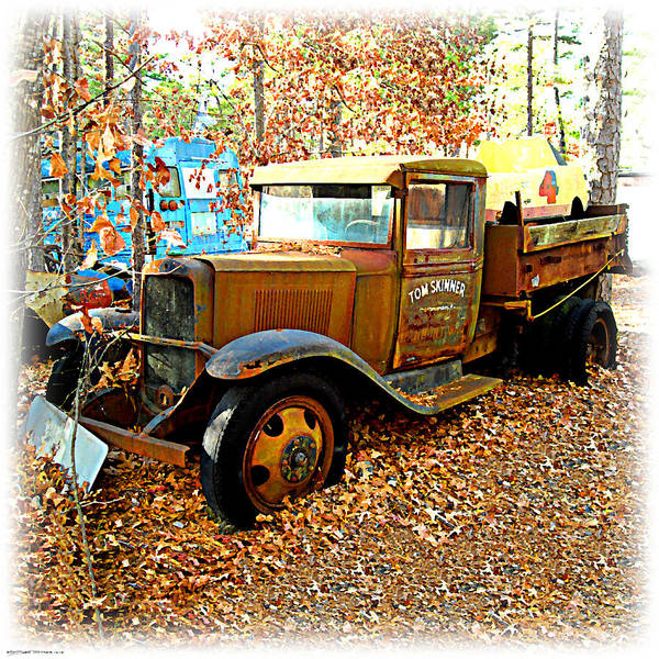 Digital Art - Old Tom Skinner's Truck by K Scott Teeters