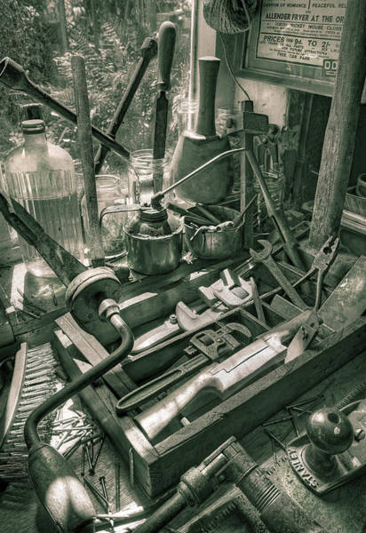 Wall Art - Photograph - Old Tools by Mal Bray