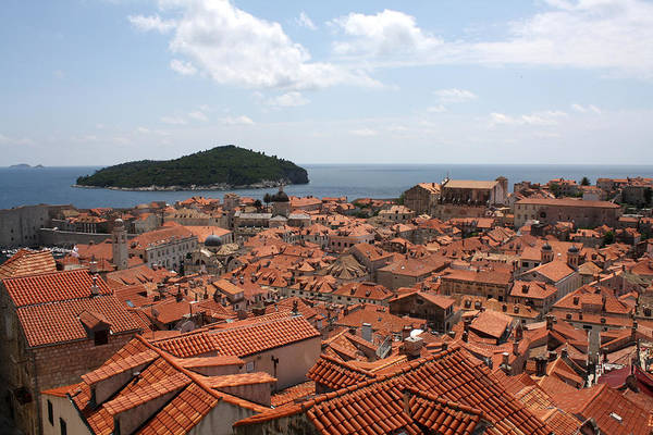 Lokrum Photograph - Old Town And Lokrum by David Nicholls