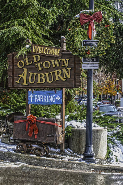 Photograph - Old Town Auburn Christmas by Sherri Meyer