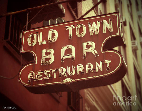 Wall Art - Digital Art - Old Town Bar - New York by Jim Zahniser