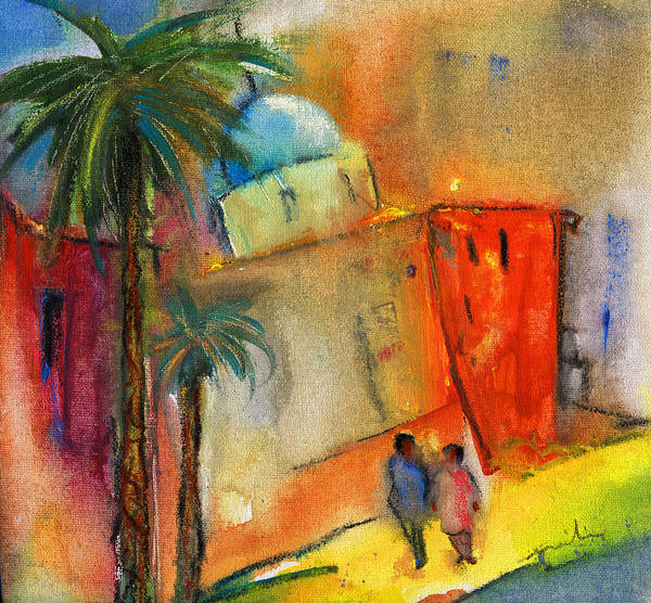 Benidorm Wall Art - Painting - Old Town Benidorm by Miki De Goodaboom