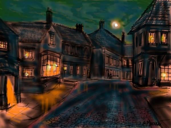 Bridlington Painting - Old Town Bridlington Two by Glenn Marshall