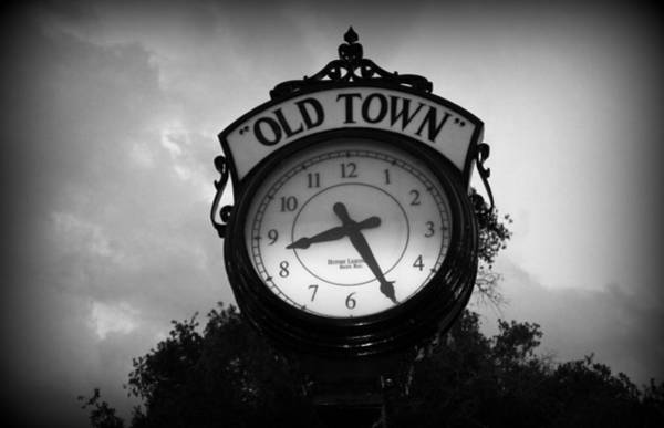 Wall Art - Photograph - Old Town Clock by Laurie Perry