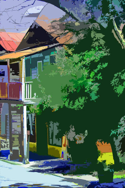 Digital Art - Old Town Locke In Patches Of Color by Joseph Coulombe