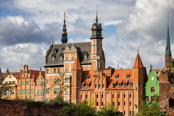 Tenement Photograph - Old Town Of Gdansk In Poland by Artur Bogacki