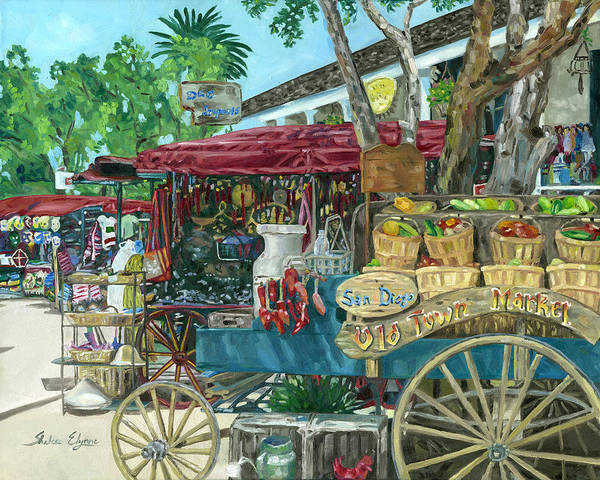 Painting - Old Town San Diego Market by Shalece Elynne