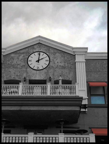 Accent Photograph - Old Town Temecula - The Clock by Glenn McCarthy