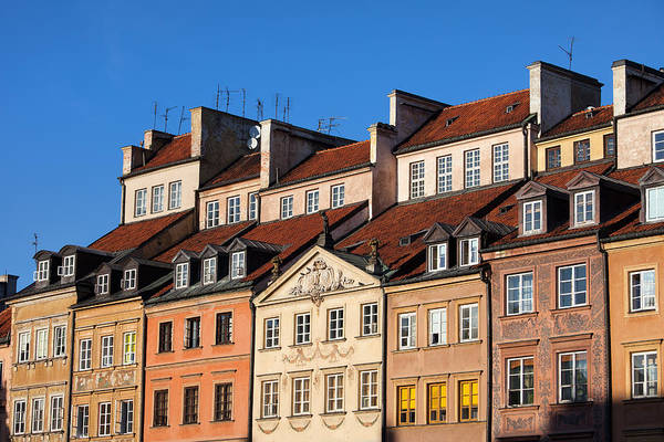 Tenement Photograph - Old Town Tenement Houses In Warsaw by Artur Bogacki